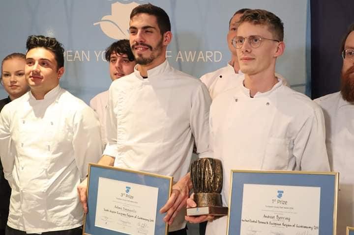 Στην 3η θέση ο Αντώνης Δημοβασίλης στον διαγωνισμό «European Young Chef Award 2018»