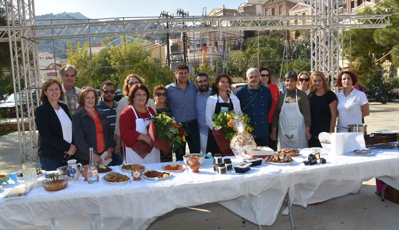 """Η αρχόντισσα Σύμη υποδέχθηκε τη δράση """"Aegean mamas know best"""", στο πλαίσιο της Γαστρονομικής Περιφέρειας της Ευρώπης – Νότιο Αιγαίο 2019"""