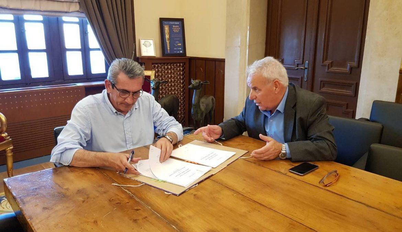 Προγραμματική σύμβαση μεταξύ Περιφέρειας και Δήμου Πάτμου για την υλοποίηση δύο μεγάλων λιμενικών  έργων στο νησί, συνολικού  προϋπολογισμού 2,55 εκατ. €