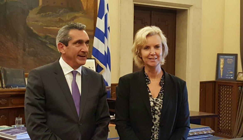 Συνάντηση του Περιφερειάρχη Γ. Χατζημάρκου με την Πρέσβη της Σουηδίας στην Ελλάδα. Τουρισμός, εμπορικές συναλλαγές και προσφυγικό στην ατζέντα της συζήτησης