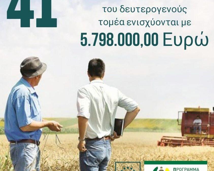Με 5,8 εκατ. ευρώ στηρίζονται 41 ιδιωτικές επενδύσεις του αγροτικού τομέα της Δωδεκανήσου