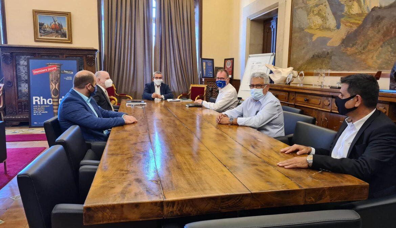 Η πορεία του ΦΟΔΣΑ Νοτίου Αιγαίου στη συνάντηση εργασίας του Γ. Χατζημάρκου και του Α. Καμπουράκη με τον Carsten Rasmussen