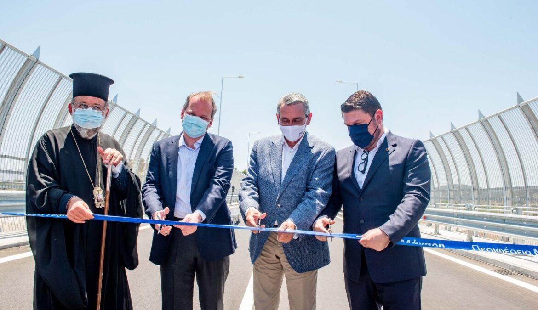 Εγκαινιάστηκε σήμερα η γέφυρα του ποταμού Μάκαρη, στη Ρόδο, έργο που συνέβαλε στον θεσμικό εκσυγχρονισμό της Πολιτικής Προστασίας